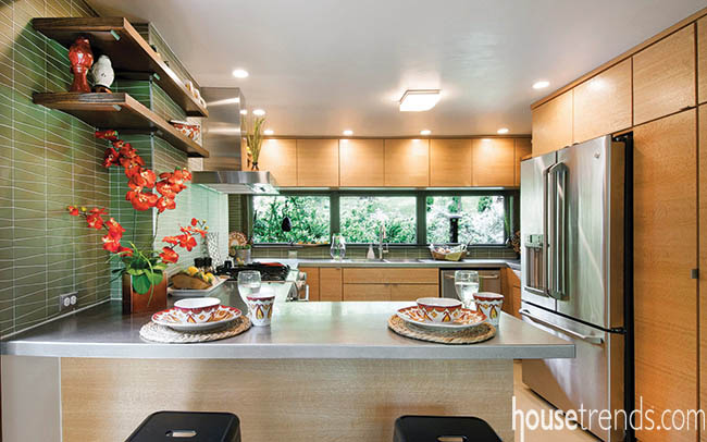 Cabinetry lends to a modern kitchen design
