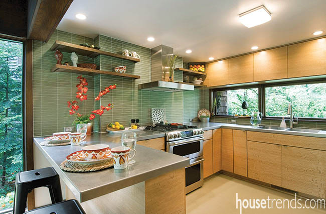 Small kitchen design hosts an active family