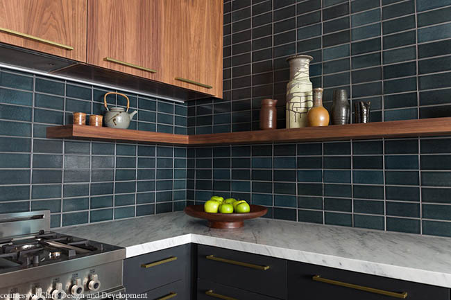TIle offers a dark sophistication to a kitchen