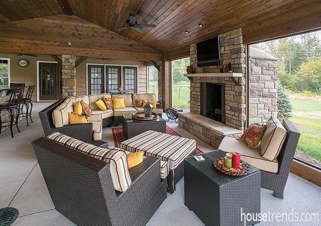 Screened outdoor porch sanctuary