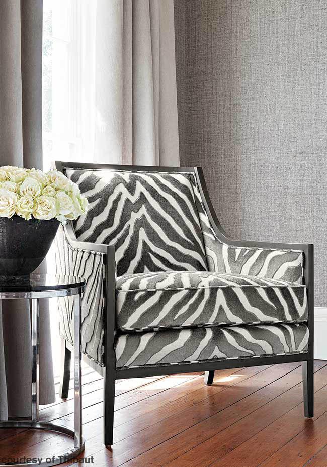 Cozy zebra print chair