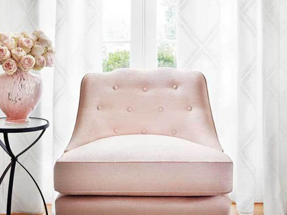 Blush chair perfect for any room design
