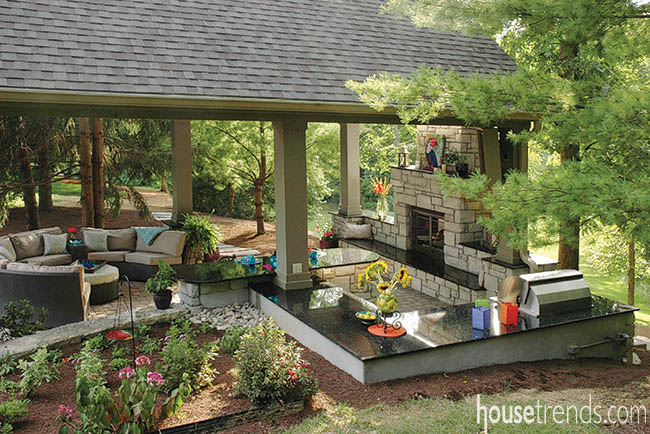 Covered Outdoor Patio helps beat the heat