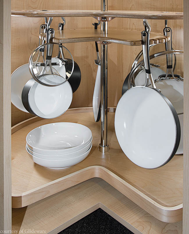 New twist on traditional kitchen storage