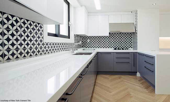 Tile backsplash with a contemporary vibe