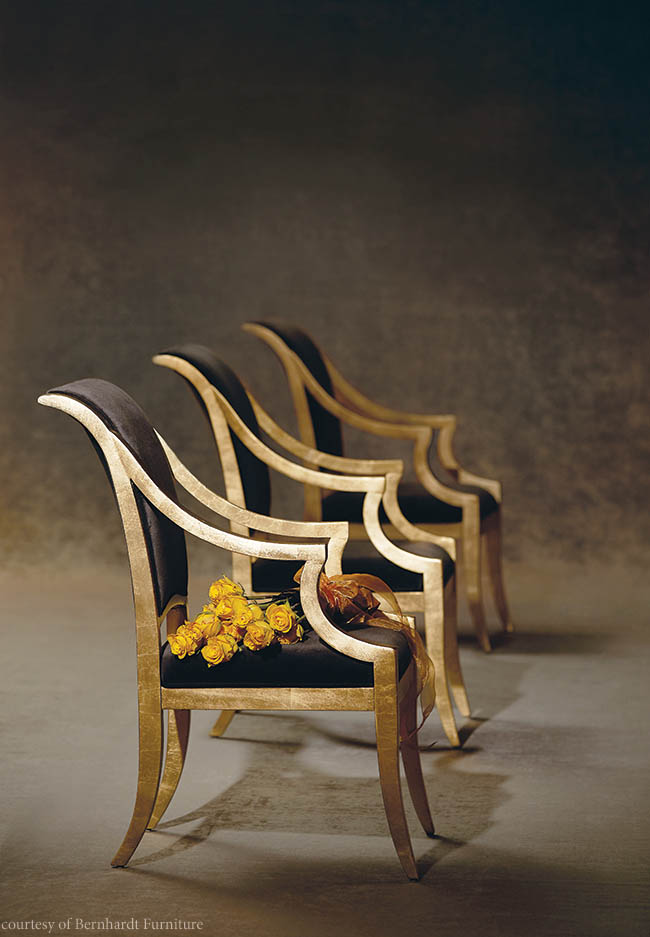 Arm chair with a dramatic flair