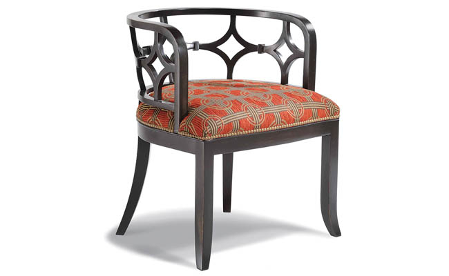 Occasional chair with a low back