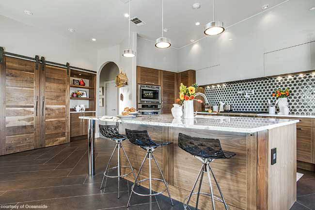 Backsplash adds bling to a kitchen