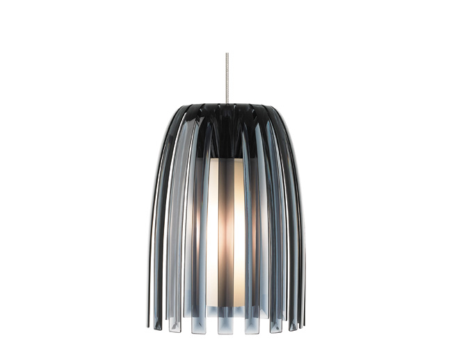 It's all gray for this pendant light
