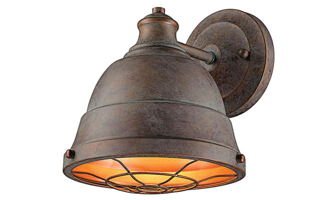 Copper light fixture hints at the past