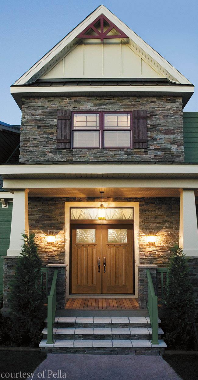 Entry door with weather-resistant design