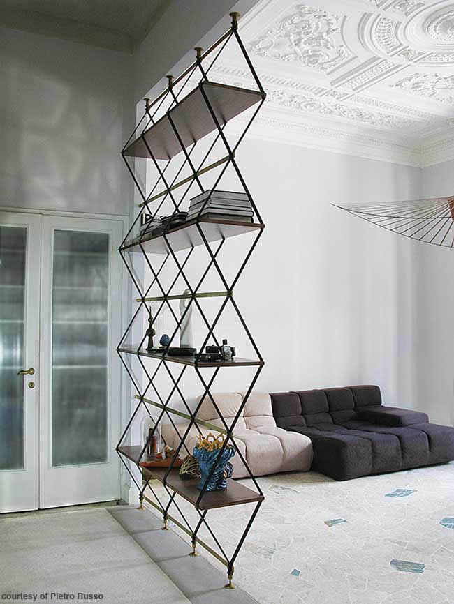 Bookshelf doubles as a room divider