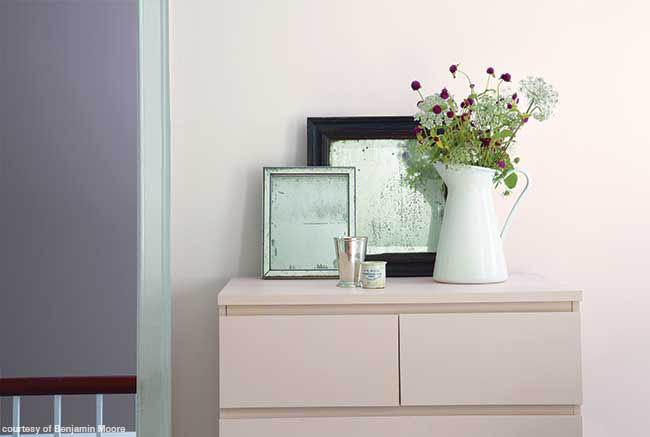 Pink furniture in a bedroom