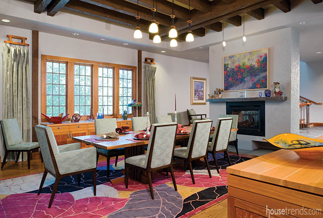 Dining room with an open feel