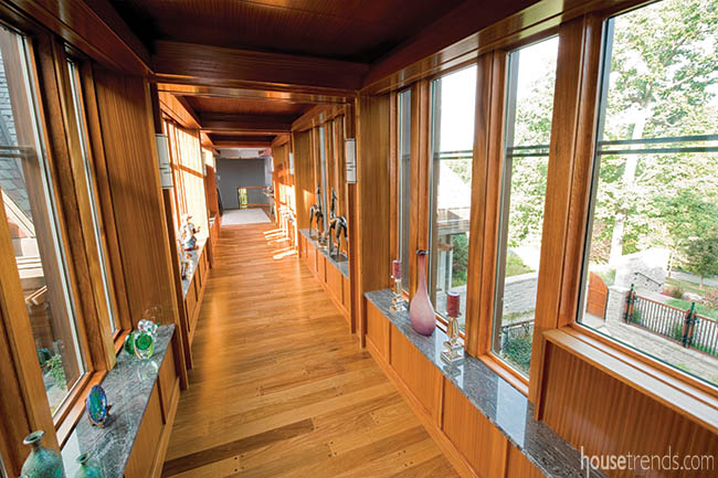Woodwork adds interest to a new home