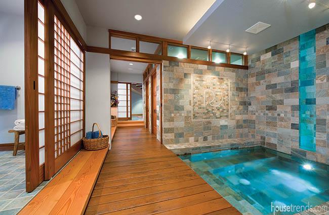 Indoor spa with a zen feeling