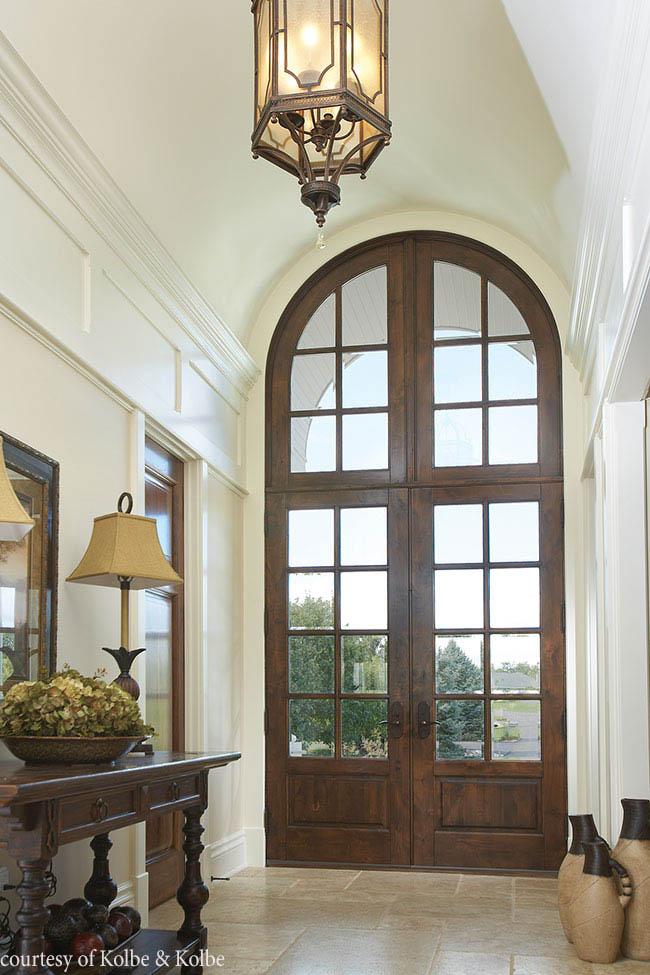 Door lets in plenty of natural light