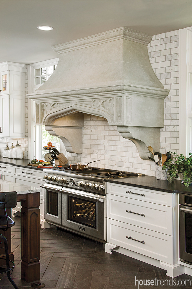 Range hood design connects the inside to the out