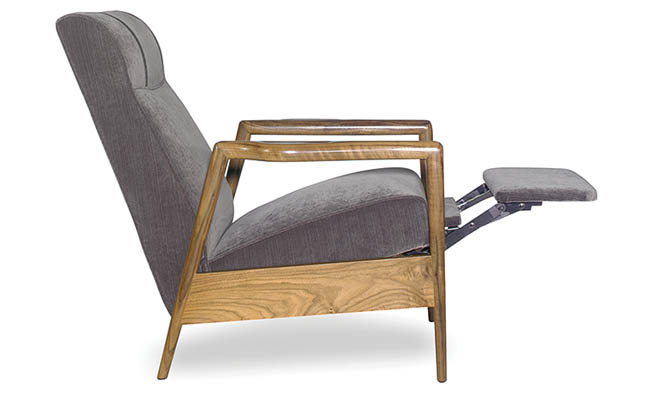 Recliner chair with a simple frame