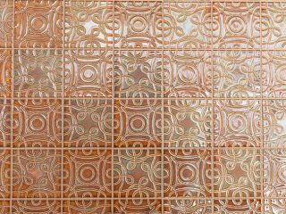 Tile flooring from Rookwood Pottery