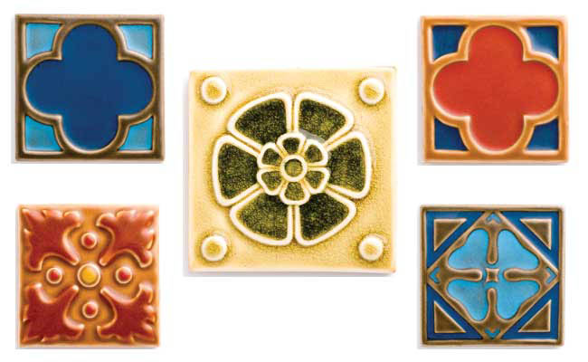 Decorative tile from Rookwood Pottery