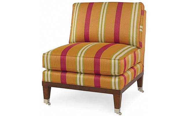 Armless chair perfect for any room in the house