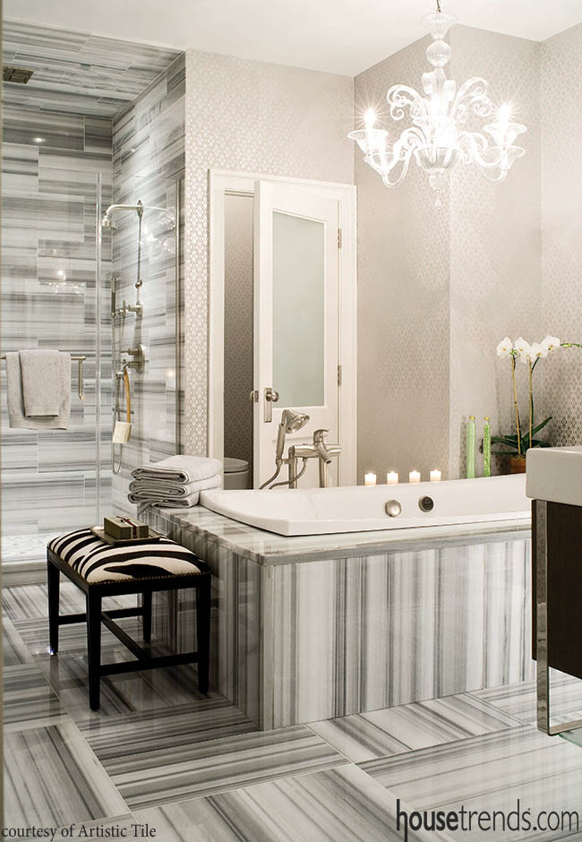 Marble creates a show-stopping bathroom design