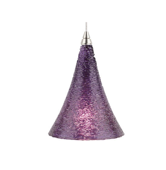 Pendant light showcases a graceful design