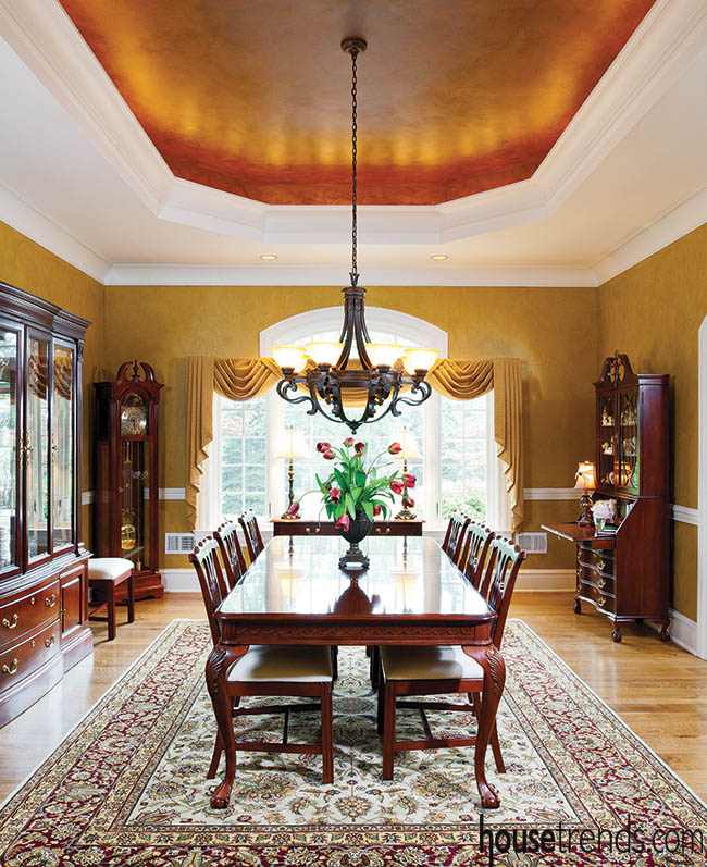 Plan out additions to a dining room design