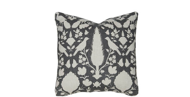 Throw pillow mix up the traditional