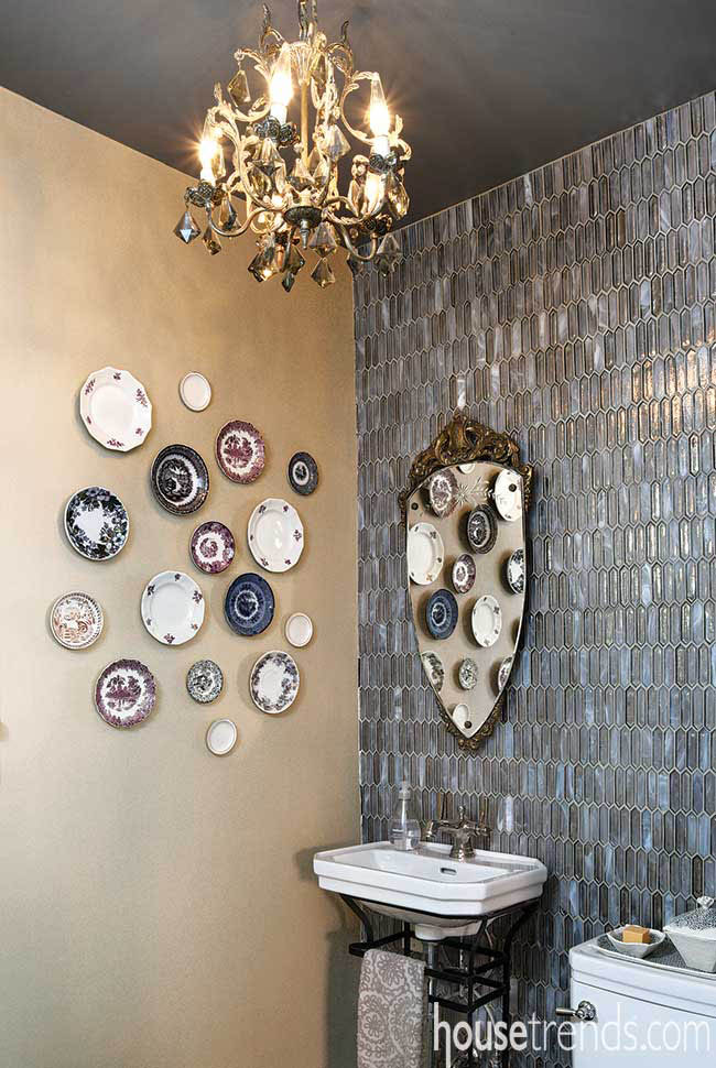 Powder room with personality