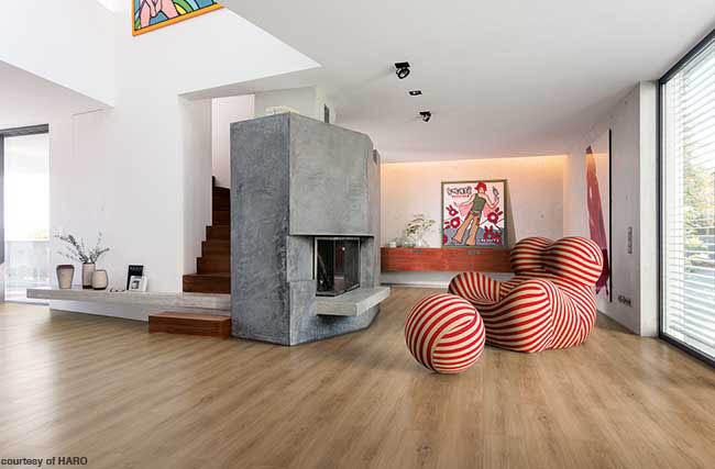 Home features luxury vinyl tile flooring