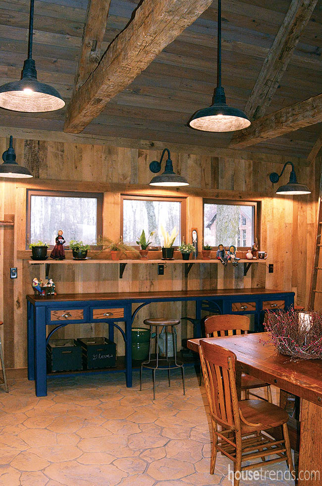 Potting shed boasts reclaimed materials