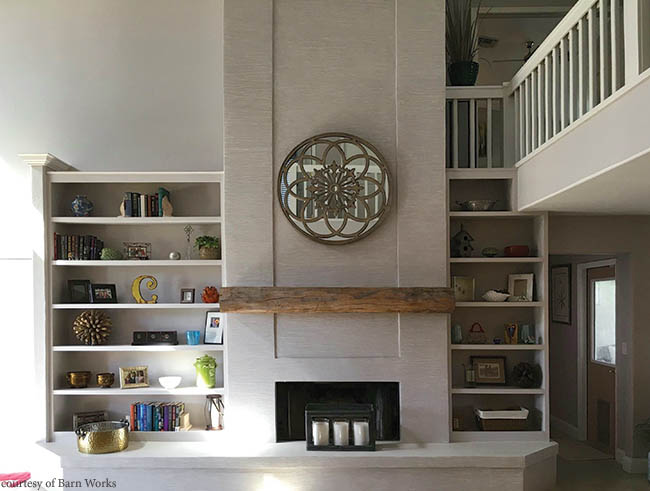 Reclaimed wood lends rustic touch to a home