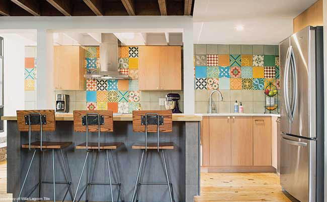 Patchwork tile brings a backsplash to life