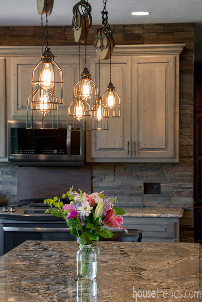 Lights with a rustic vibe
