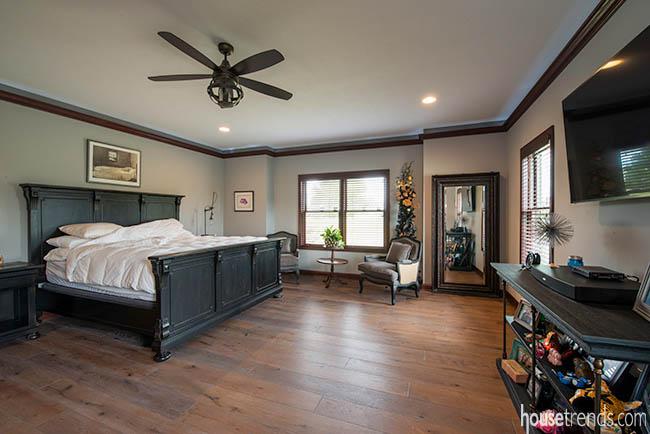 Master bedroom furniture survived a fire