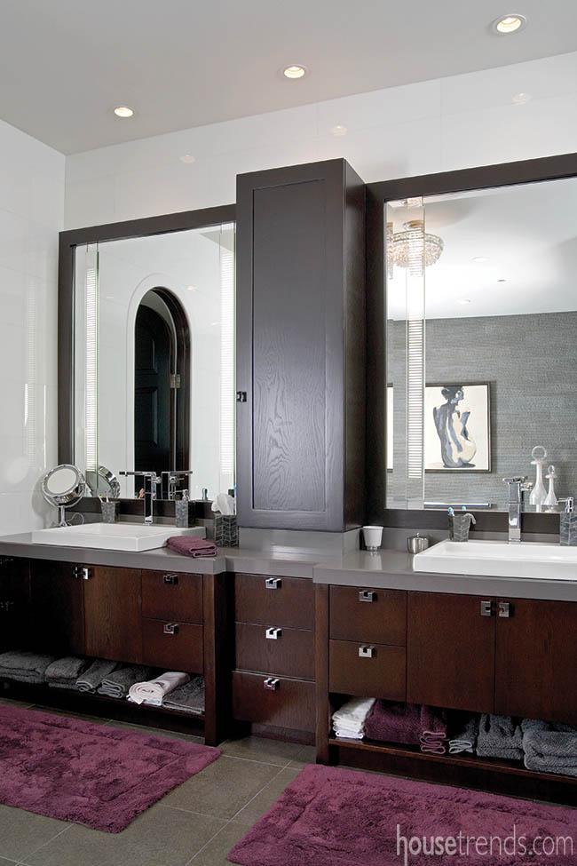 Double vanities offer plenty of storage space