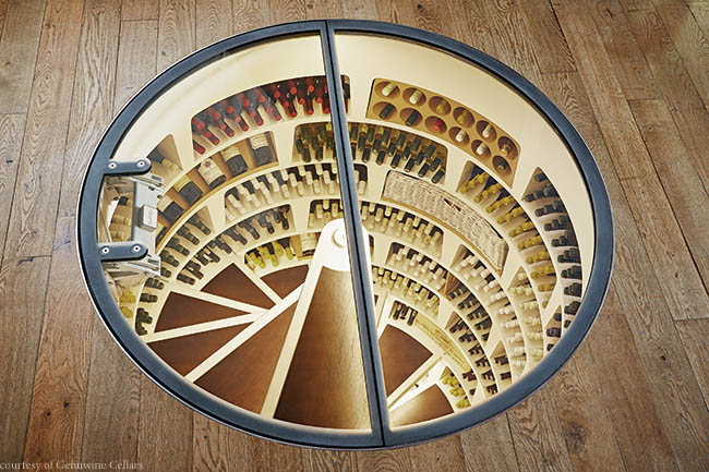 Spiral wine cellar wows guests