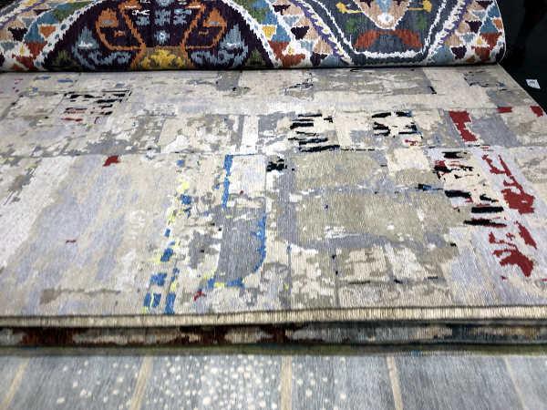 Tamarian rug seen at the NY rug show