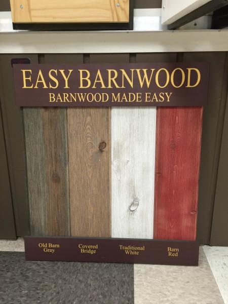 Easy Barnwood Display