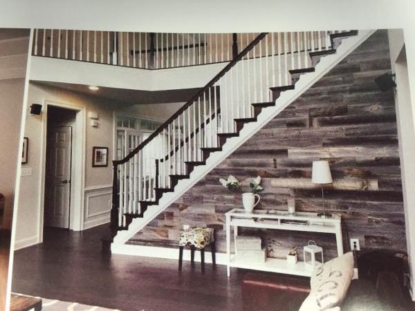 Easy Barnwood Stairs