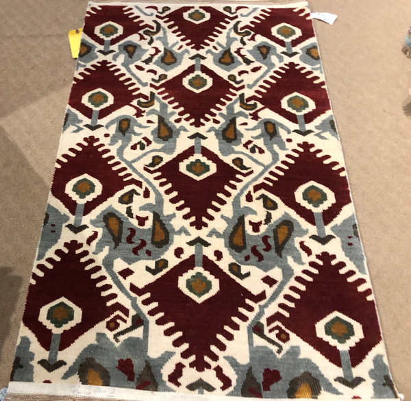 A.E. LOTTO STYLE B-172 SIZE 3 X 5 WOOL HANDKNOTTED RUG