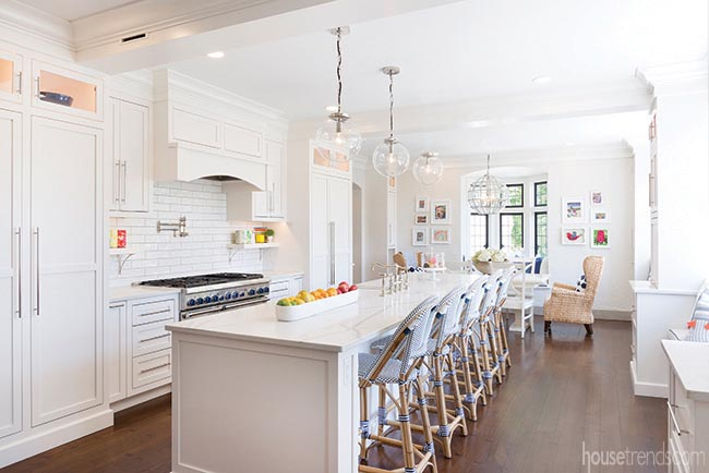 Remodeled kitchen with kid-friendly accessories