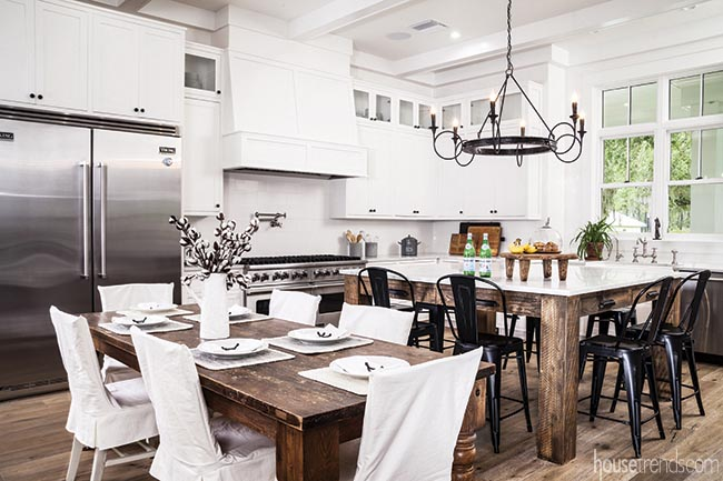White kitchen with a farmhouse feel