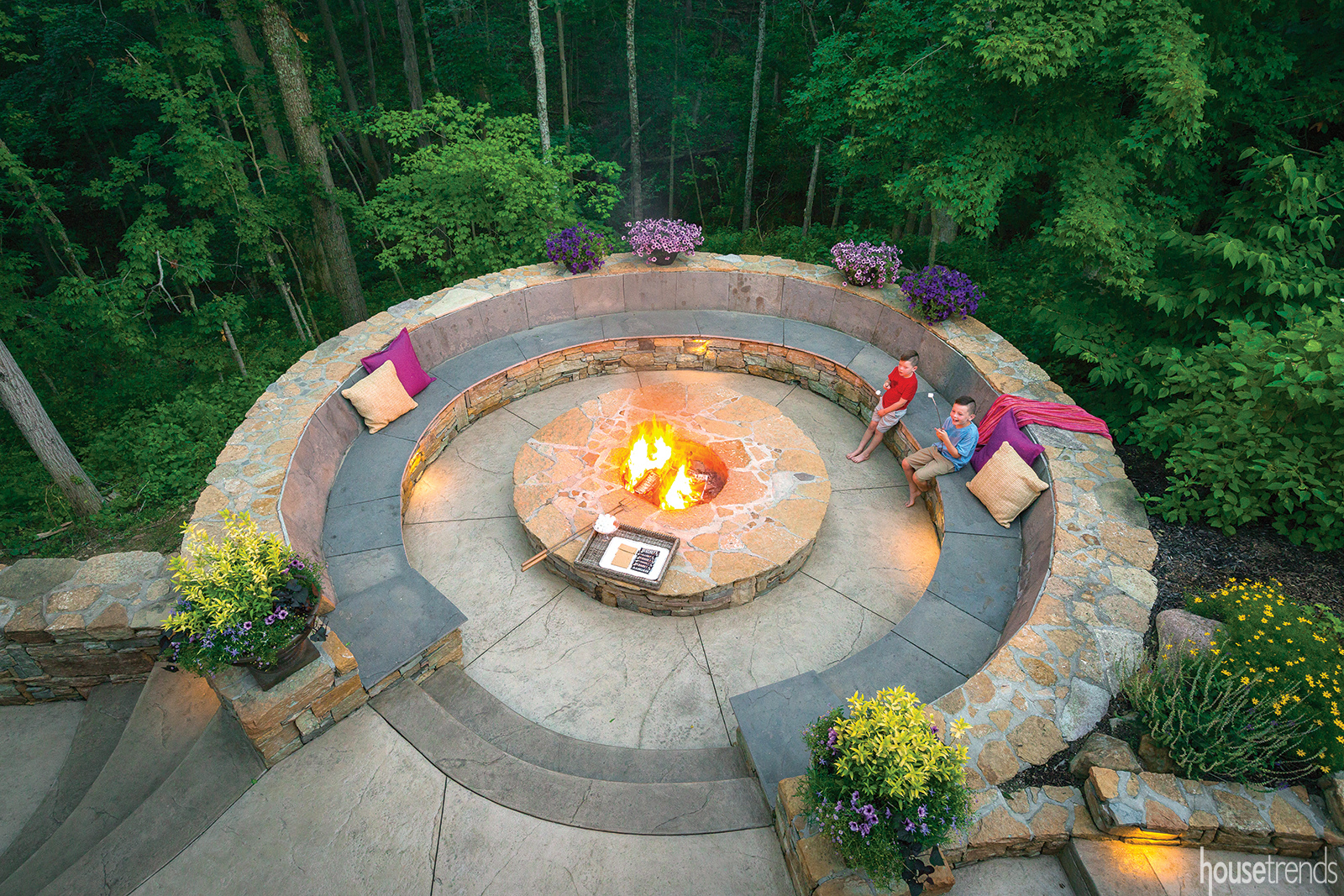 Fire pit fit for a crowd