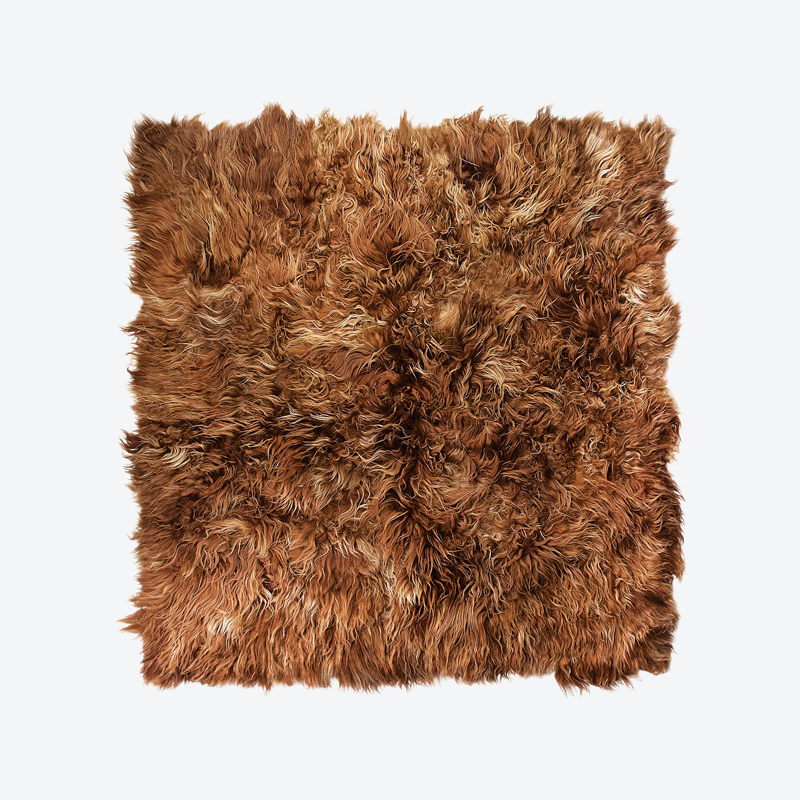 Natural Black Sheepskin Rug