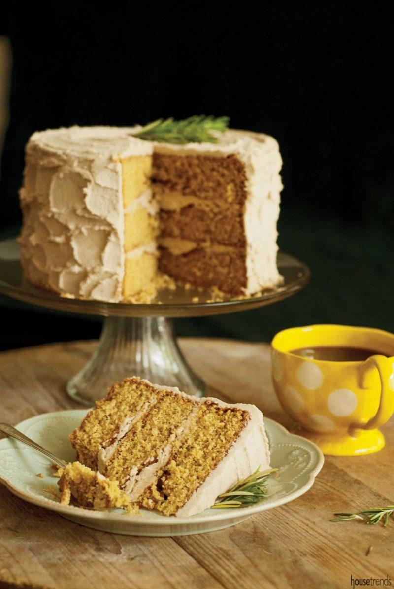 Rosemary corn cake recipe